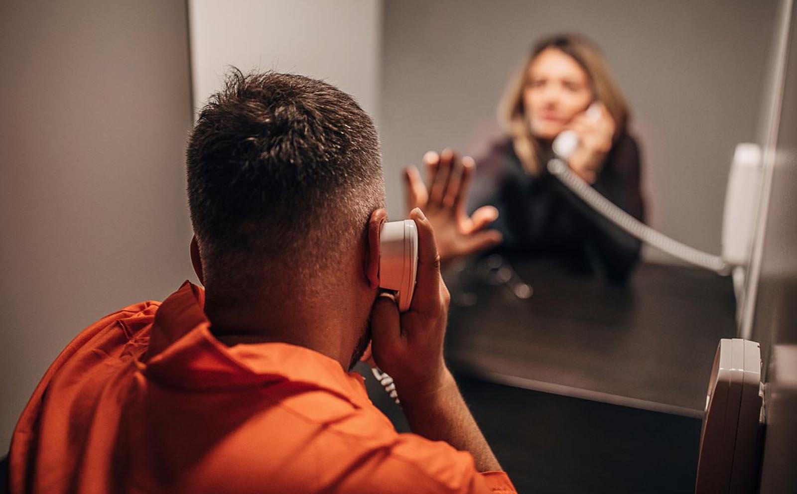 Talking to inmate